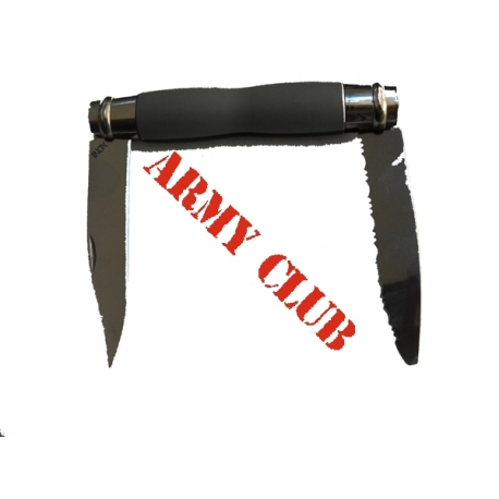 FRENCH PICNIKING KNIFE WITH TWO BLADES STRAIGHT AND GEAR ΙΝΟΧ