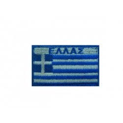 GREEK FLAG WITH VELCRO 10X6 BIG