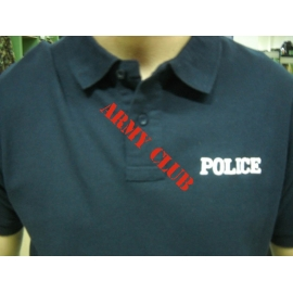 POLICE POLO EMPROIDERY