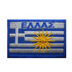 HELLAS FLAGS COLORED WITH VERGINA WITH VELCRO