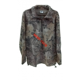 Fleece cardigan (hunting variant) with zipper