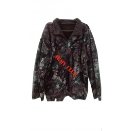 Fleece jacket (hunting camo) two sides (khaki-camo) of high cold with zipper