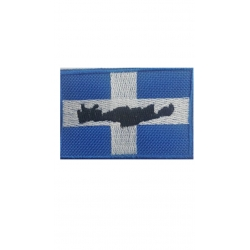 NATIONAL FLAGS COLORED WITH CRETE WITH VELCRO