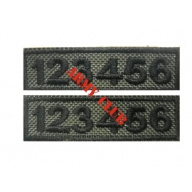 POLICE NUMBERS EMBROIDERY PAIR WITH LOW VISIBILITY WITH VELCRO