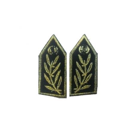 Senior police uniform patch (pair)