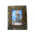 WOODEN FRAME (LEONIDAS) (INVESTMENT stones) (9CH14 PICTURE)