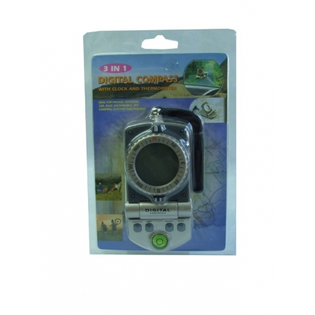 ELECTRONIC COMPASS (TEMPERATURE-DEGREES-WATCH) (ADJUST AND CAR)