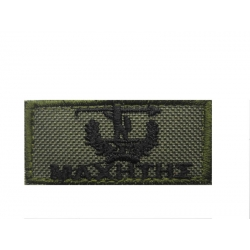 FIGHTER EMPROIDERY BADGE LOW VISIBILITY WITH VELCRO