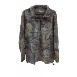 Fleece cardigan (hunting variant) with zipper