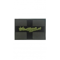GREEN NATION FLAG WITH CRETE AND VELCRO