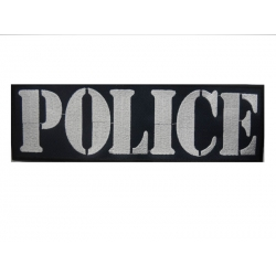 Embroidered mark (POLICE) back 28x8 with velcro