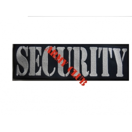 Embroidered mark (SECURITY) back 28x8 with velcro